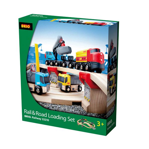 Tog- og vejbane, lossesæt - 33210 - BRIO Tog