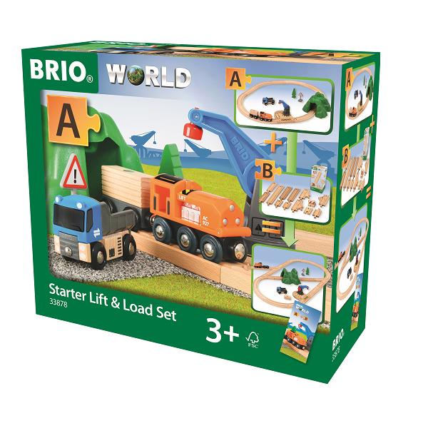 Togbane, løft- og læs startsæt - BRIO