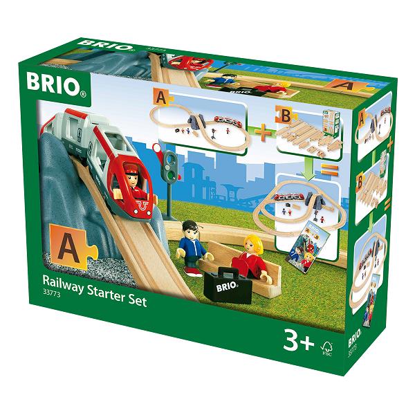Togbane, Startsæt m/tog-tilbehør - 33773 - BRIO
