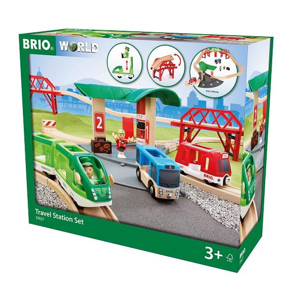 Togbane, stationssæt - BRIO