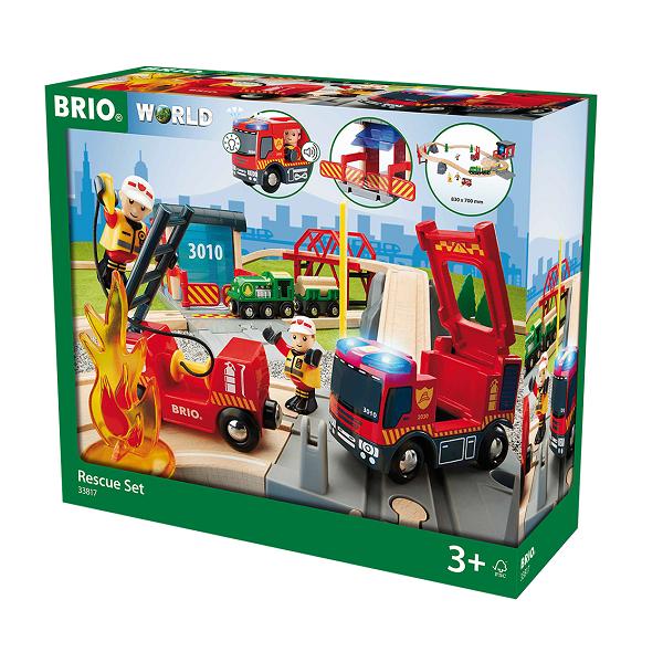 Image of Togsæt med redningstema - 33817 - BRIO (33817)