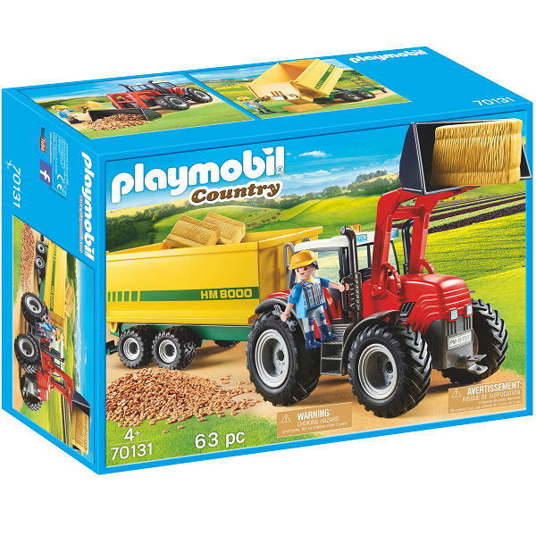 Image of   Traktor med fodervogn - PL70131 - PLAYMOBIL Country