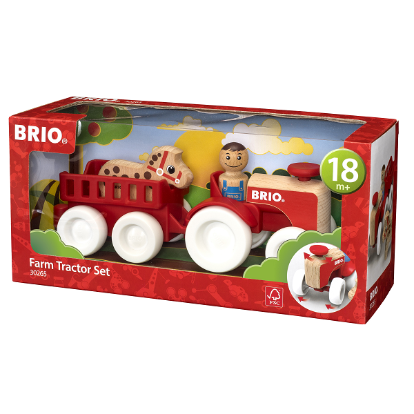 Traktor m/vogn, figur, hest - 30265 - BRIO