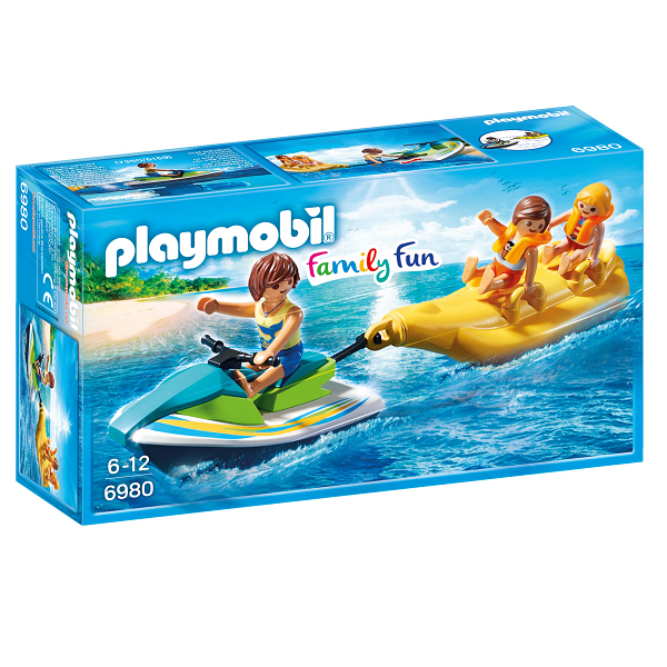 Image of Vandscooter med bananbåd - PL6980 - PLAYMOBIL Family Fun (PL6980)