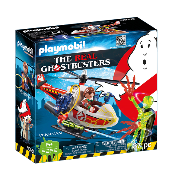 Image of   Venkman med helikopter - 9385 - PLAYMOBIL Ghostbusters