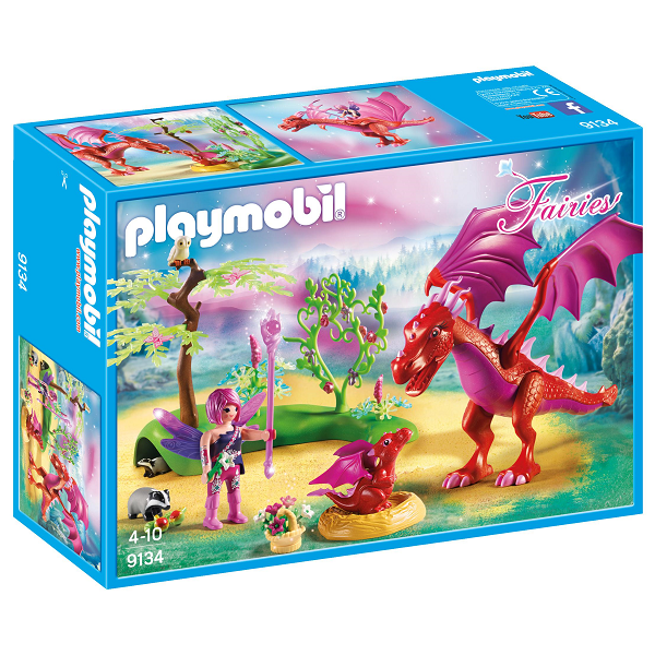 Image of Venlig drage med baby - PL9134 - PLAYMOBIL Fairies (PL9134)