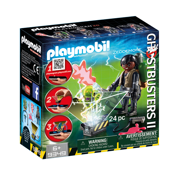 Image of Ghostbuster Winston Zeddemore - 9349 - PLAYMOBIL Ghostbusters (PL9349)