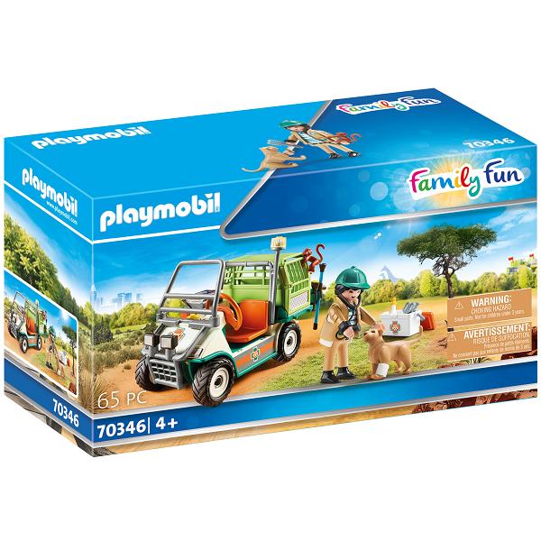 Image of Zoo-dyrlæge med køretøj - PL70346 - PLAYMOBIL Family Fun (PL70346)